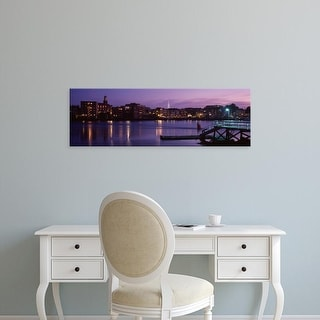 Easy Art Prints Panoramic Images's 'Cityscape Portsmouth NH USA' Premium Canvas Art