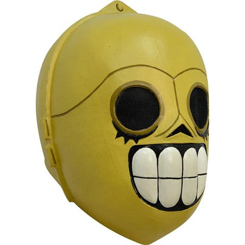 Adult Calaveritas Droide C-3PO Costume Mask - Standard - One Size