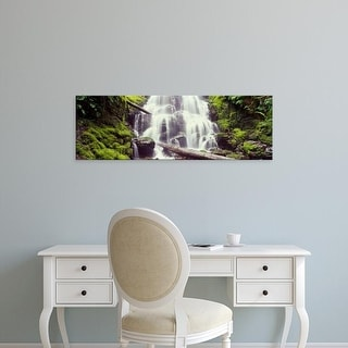 Easy Art Prints Panoramic Images's 'Waterfall in a forest, Waheena Falls, Hood River, Oregon, USA' Premium Canvas Art