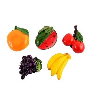 Home Message Board Resin Fruit Design Fridge Refrigerator Magnets 5 Pcs