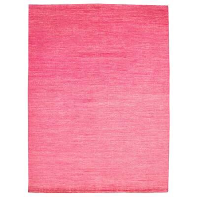 ECARPETGALLERY Hand-knotted Pak Finest Gabbeh Pink Wool Rug - 9'10 x 13'8
