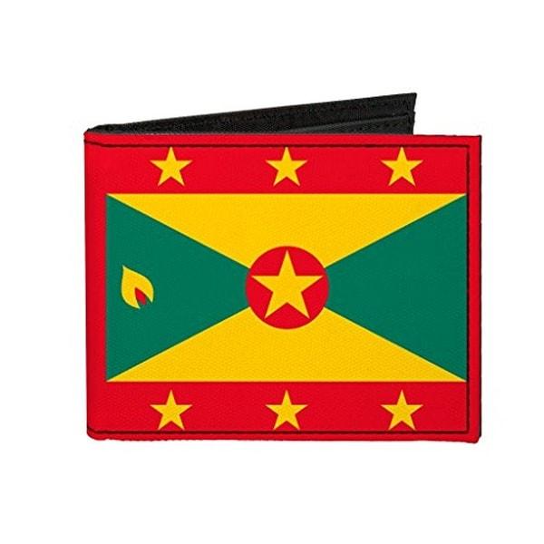 Buckle-Down Canvas Bi-fold Wallet - Grenada Flag Accessory
