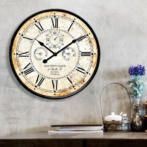 "Walplus Vintage Rusty looked Metal Wall Clock 23"" Decoration Wall Art"