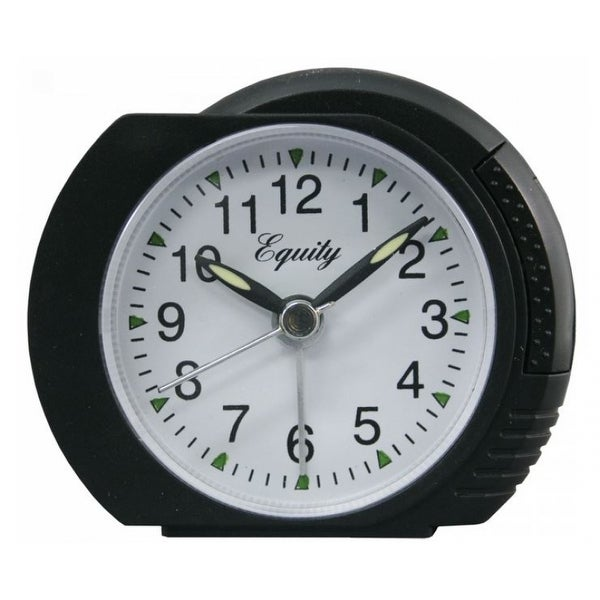 Equity 27001 Analog Alarm Clock with Black Case & Lighted Dial