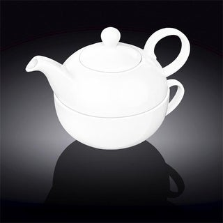 Wilmax 994048 Tea For One Set, White - Pack of 24