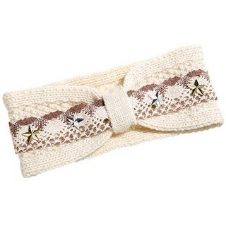 Mad Style Cream Lace & Star Headband