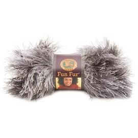 Lion Brand Yarn 320-151 Fun Fur Yarn, Sterling