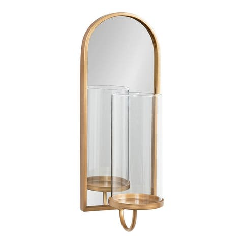 Kate and Laurel Ezerin Metal Mirror Wall Sconce - 6x5x16