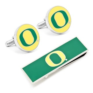 University of Oregon Ducks Cufflinks and Money Clip Gift Set NCAA - Multicolored