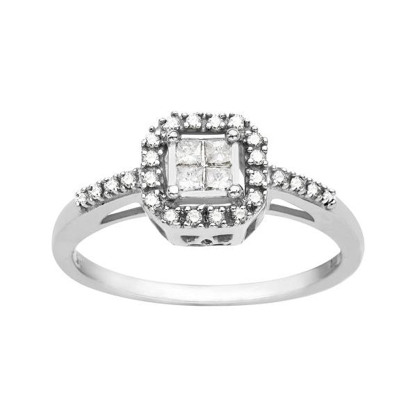 1/4 ct Diamond Ring in 10K White Gold