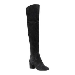d3763051716 Shop Cole Haan Women s Raina Grand Over The Knee Boot II Black Suede - Free  Shipping Today - Overstock - 17997332