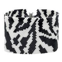 Zebra Print Peyote Bracelet - Exclusive Beadaholique Jewelry Kit