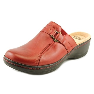 Clarks Hayla Marina Women Round Toe Leather Red Clogs
