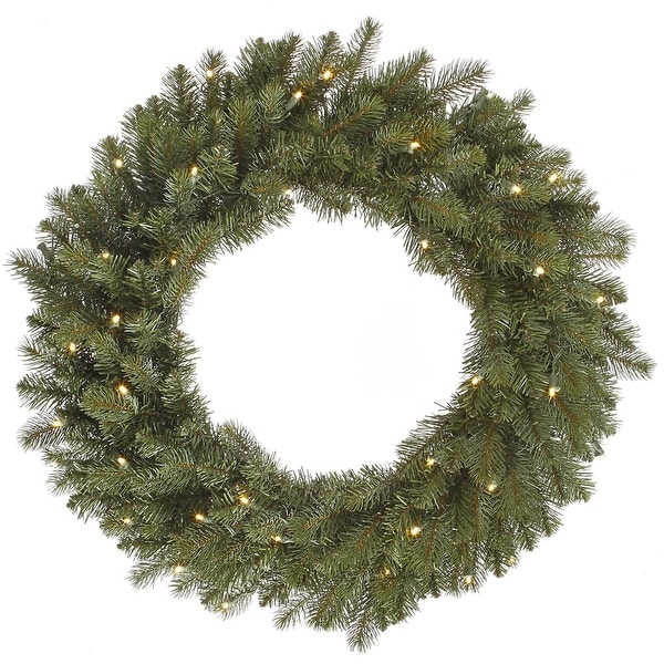 "24"" Colorado Wreath LED40WmWht"