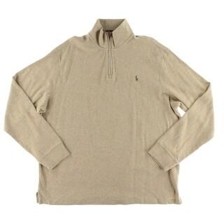 Polo Ralph Lauren Mens Pullover Sweater Cotton 1/4 Zip