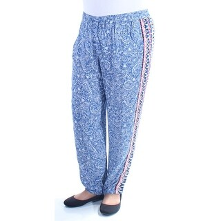 FRENCH CONNECTION $98 Womens New 2411 Blue Floral Lounge Casual Leggings 12 B+B