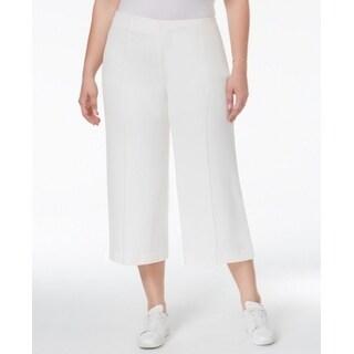 Rachel Rachel Roy NEW White Women's Size 24W Plus Capris Cropped Pants