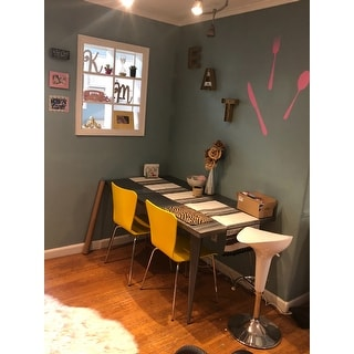 Shop Carbon Loft Swan Industrial Metal Dining Table Free