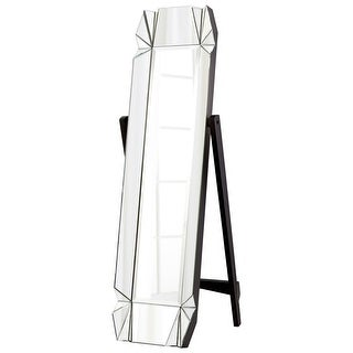 "Cyan Design 8731 Paramour 69"" Tall Beveled Glass Standing Mirror - Black"