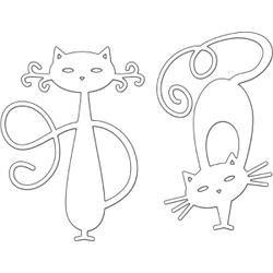 "Penny Black Creative esto Fancy Cats 3.4/""x3/"" stanzschablone gatos 5x8 cm"