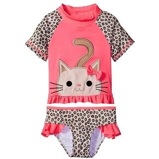 Wippette Baby Girls Swimwear Cute Little Kitty Swim 2 Pc Rashguard Set (3 options available)