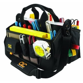 """CLC 1529 Center Tray Tool Bag, 16"""", 16 Pockets
