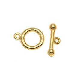 22K Gold Plated Toggle Clasps 9mm (5 Sets)