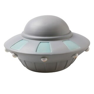 UFO LED Accent Lamp - Flying Saucer Nightlight - gray - 8 in. x 5 in.