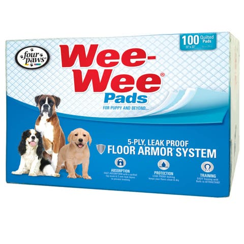 Four Paws Wee-Wee Pads 100 pack box - 100 pack