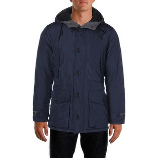 Nautica Mens Parka Hooded Quilted - S