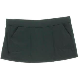 Anne Cole Signature Womens Blast Skirt Solid Swim Skirt - S