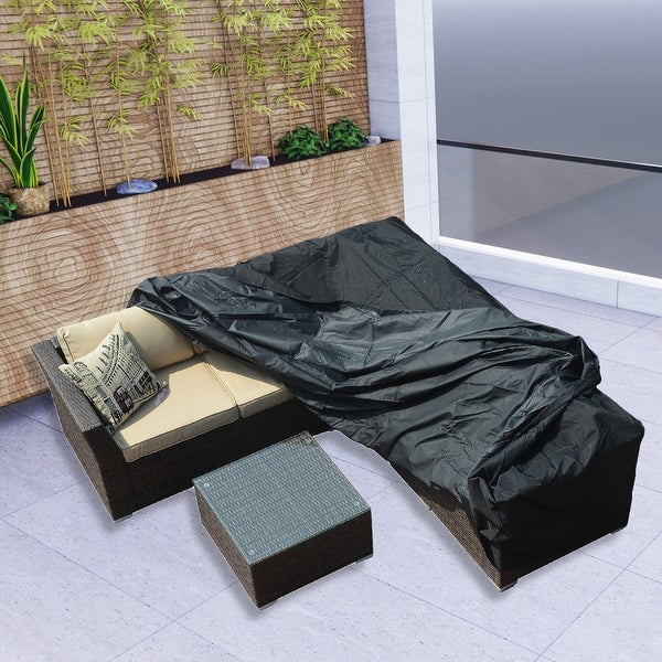 Plus Large 106 x 106 x 28-inch Square Dining Set Patio Garden Furniture Waterproof Cover by Direct Wicker. Opens flyout.