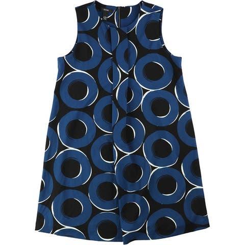 Alfani Womens Pleat Front Circle A-Line Dress