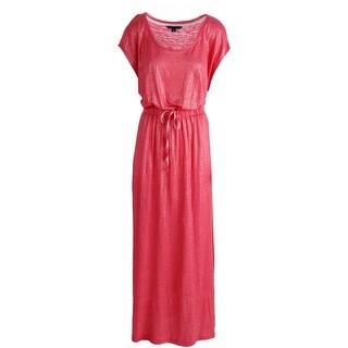 Tommy Hilfiger Womens Linen Shimmer Maxi Dress