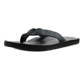 Sanuk Off The Grid Men Open Toe Canvas Flip Flop Sandal