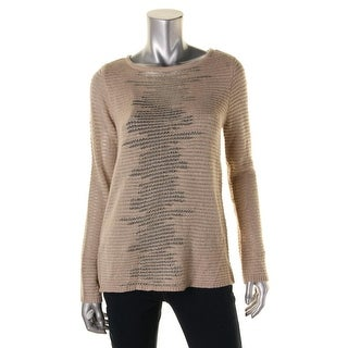 BCX Womens Juniors Metallic Knit Pullover Sweater