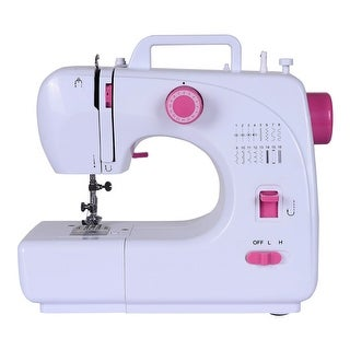 Costway Sewing Machine Free-Arm Crafting Mending Machine with 16 Built-In Stitched White