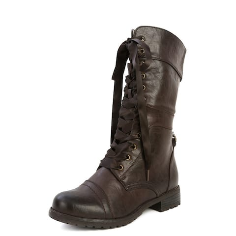 Wild Diva Women Timberly-43 Boots - Black