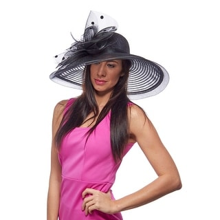 Lingfield Park Wide Brimmed Sinamay Derby Hat
