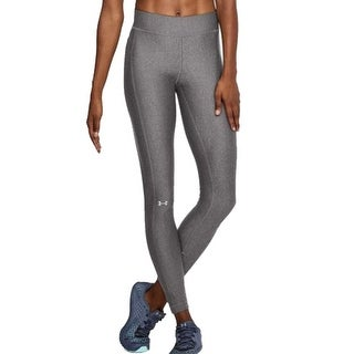Under Armour Women's HeatGear Compression Leggings, Charcoal Light Heather, M