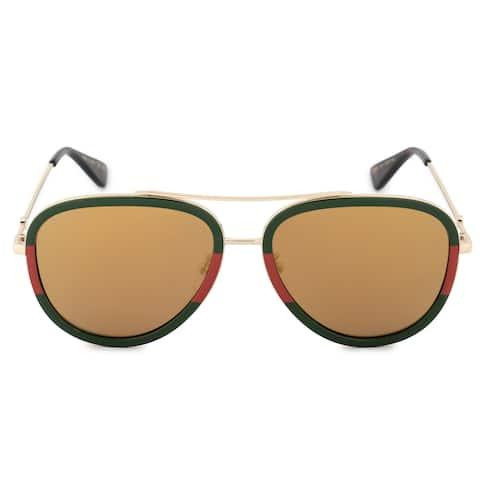 1ed6c4d6a00 Gucci GG0062S 010 57 Aviator Sunglasses
