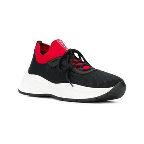 Prada Men's American Cup Sneakers Shoes Black