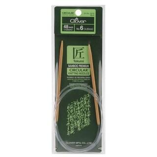 "Takumi Bamboo Circular Knitting Needles 48""-Size 6/4mm"