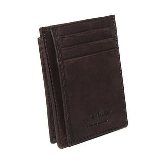 Paul & Taylor Men's Leather Front Pocket Credit Card ID Holder Wallet - One size