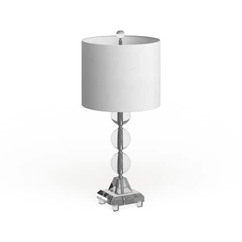"Safavieh Lighting 24-inch Fiona Crystal Table Lamp (Set of 2) - 11""x11""x23.5"""