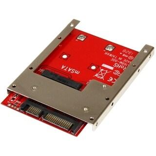 StarTech SAT32MSAT257 StarTech.com mSATA SSD to 2.5in SATA Adapter Converter - 1 x Total Bay - Serial ATA