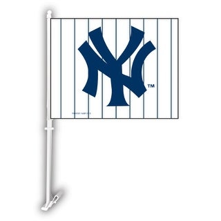Fremont Die Inc New York Yankees Car Flag With Wall Brackett Car Flag With Wall Brackett