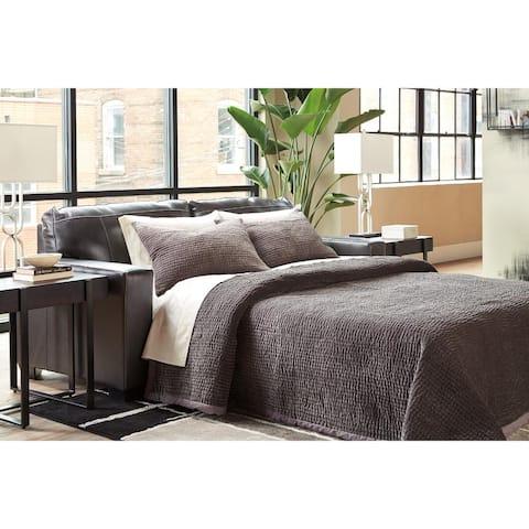 Morelos Queen Leather Sofa Sleeper w/ cushions