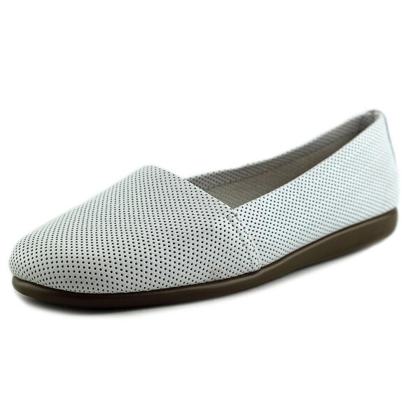 Aerosoles Mr Softee Women W Round Toe Leather White Loafer