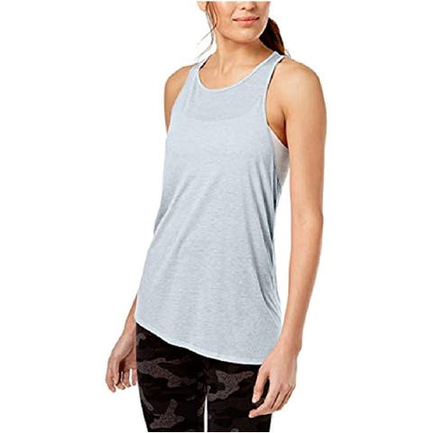 Calvin Klein Women's Crossover-Back Asymmetrical Tank Waterfall Size Large